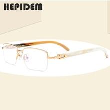 Buffalo Horn Glasses Frame Men Square High Quality Women Prescription Eyeglasses 2019 New Luxury Optical Frames Eyewear 8101027