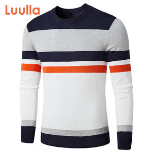 Men Brand 2020 Autumn Fashion Casual Striped Cotton Sweater Pullovers Men O-Neck Warm 100% Cotton Knit Men's Sweaters Coat Men