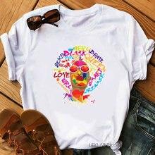 Меланин королева с буквенным принтом графическая футболка для