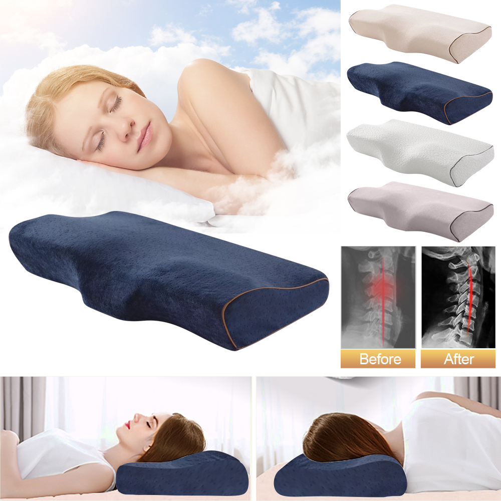 Memory Pillow Neck Rebound Slow Foam Cervical Orthopedic Protection Health Care