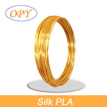 Filamento 3D pluma PLA 1,75 Mm recarga plástico seda 5 metros mármol brillante madera oro plata cobre amarillo azul Rosa Material de la impresora