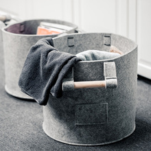 цены на Folding Laundry Basket Wardrobe Clothes Storage Felt Bin with Handle Laundry Holder Organizer Round Storage Toy Storage Basket  в интернет-магазинах