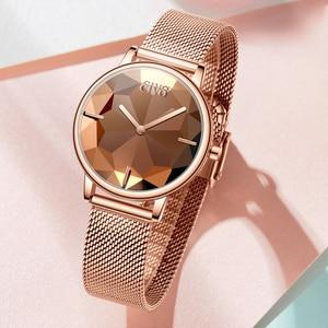 Image 3 - Civo Nieuwe Creatieve Horloges Vrouwen Luxe Waterdichte Rosegoud Quartz Dames Horloges Mesh Band Horloges Meisje Reloj Mujer 8109C