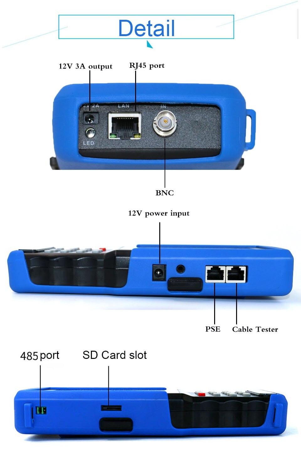 Ipc 93109310 s wifi 4.3 wifi 5 5 em um verificador do cctv do écran sensível para o ipccâmera analógica