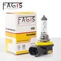 Fagis 1 шт. от американского бренда H8 галогеновые лампы для фар Противотуманные фары белый 12V 35W 3350K PGJ19-1 ультрафиолетовая кварцевая Стекло фар а...