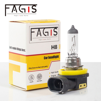 цена на Fagis 1Pcs US Brand H8 Halogen Bulb Fog Lights White 12V 35W 3350K PGJ19-1 UV Quartz Glass Car HeadLight Auto Halogen Lamp