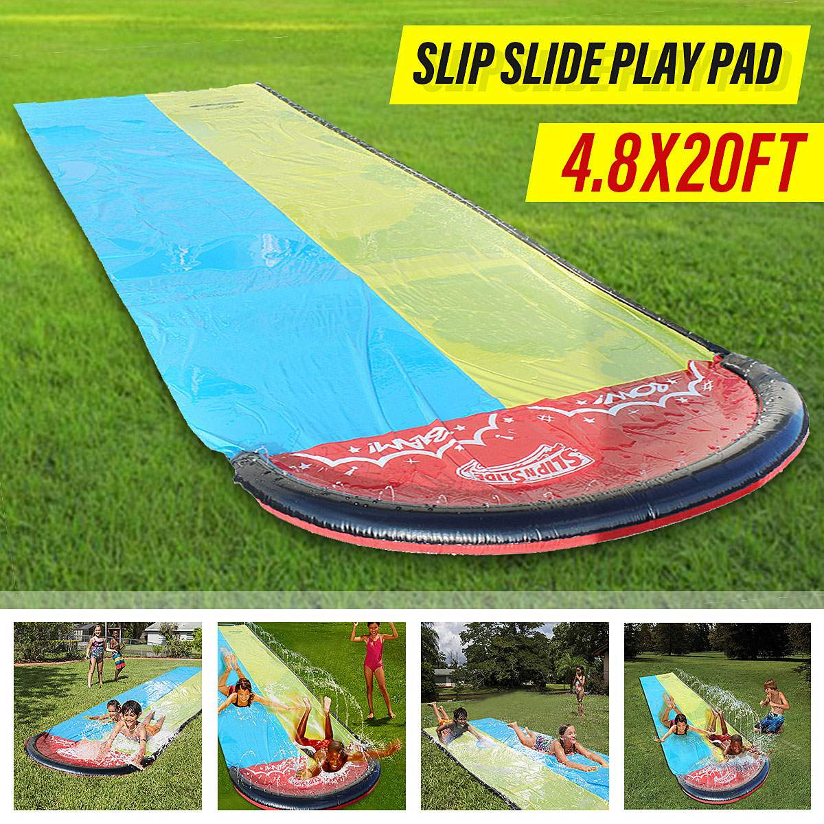 Inflatable Double Water Slide Lawn Water Slides For Children Summer Pool Kids Games Fun Toys backyard Outdoor Children Adult Toy