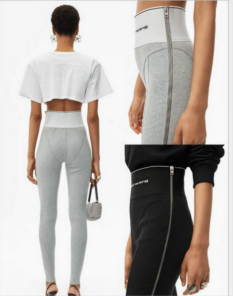 2020 Spring Letter Logo Jacquard Ribbon Tight High Waist Pants Women Leggings Yoga Pants Leggings Women A2