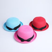 2019 Summer Parent-child ear Sun Hat Cute Children Hats Bow Hand Made Women Straw Cap Beach Big Brim Casual Glris