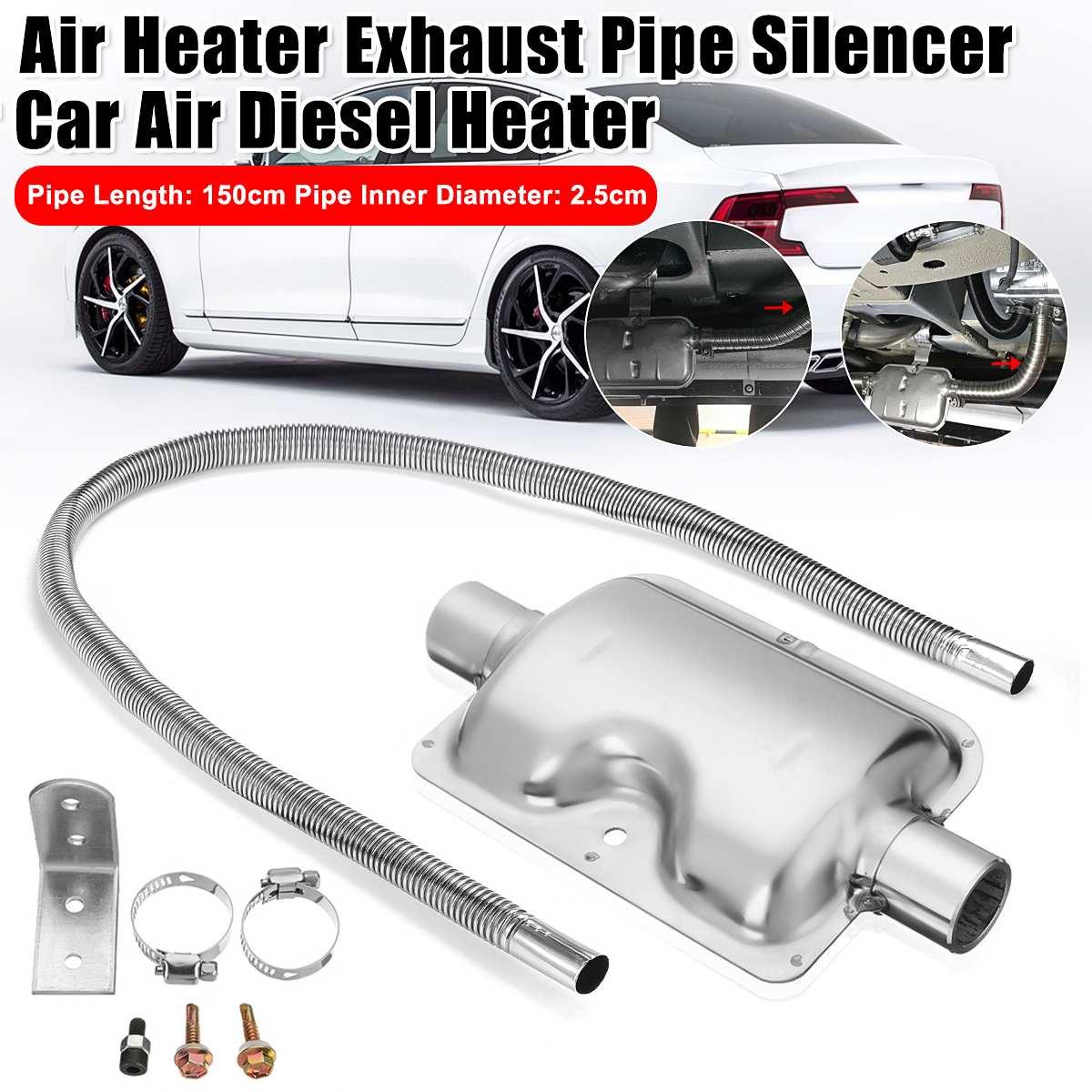 150/200cm Air Standheizung Rohrleitungen Rohr Schlauch Linie mit 25mm Auspuffrohr Schalldämpfer für Diesel Heizung für Propex Eberspacher