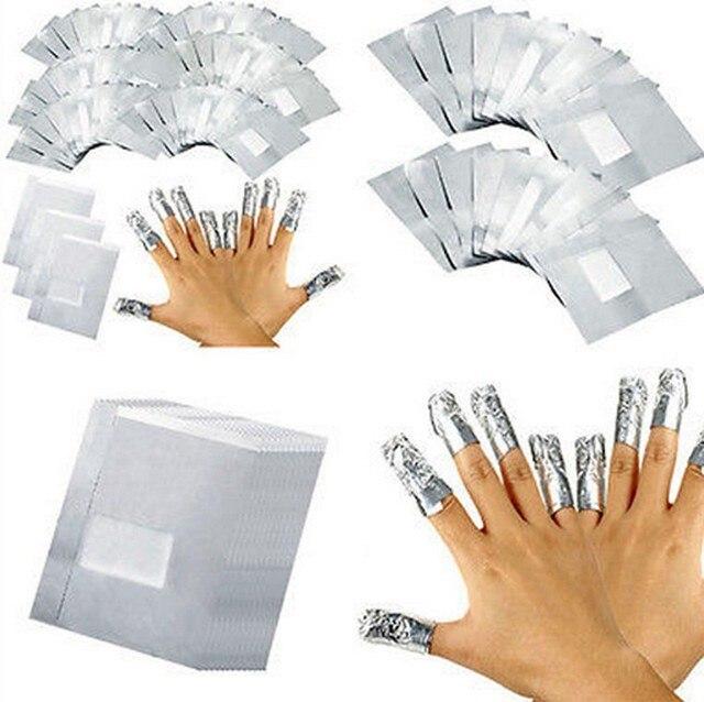 Фото 100 шт люминесцентная фольга для ногтевого дизайна удаляемая