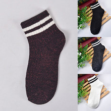 Glitter Striped Women Socks Bright Color Socks Fashion Street Shiny New Bling Shining Socks Sparkled Sport Socks Trendy Socks(China)