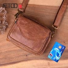 Aetoo мужская сумка ретро через плечо Новая повседневная маленькая