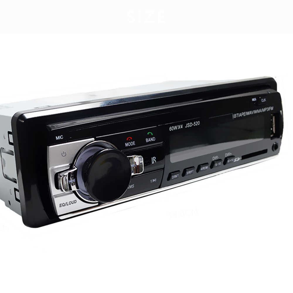 Fabrik JSD-520 Bluetooth Auto radio Auto Stereo-player Aux Input FM Empfänger SD Karte USB 12V In-dash 1 din Auto-radio-Player