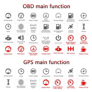 Image 3 - C800 GPS HUD Head Up Display Multi Function OBD HUD Auto Speedometer OBD2 Fault Code Elimination Driving ComputerSecurity Alarm