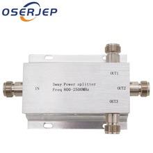 3 Way N 1 Em/Para 3 Poder Divisor Splitter 380 ~ 2500MHz para GSM CDMA 3G reforço de sinal, conectar A Antena Interna antena Externa