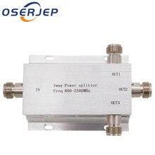 3 Way N 1 In/Aan 3 Power Divider Splitter 380 ~ 2500MHz voor GSM CDMA 3G signaal Booster, sluit Indoor Antenne buitenantenne