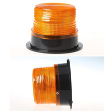 """4"""" Inch Dome 12 LED Magnet Mount Construction Vehicle Car Warning Strobe Light Beacon Amber Red Blue Police Flashing Lights CA"""