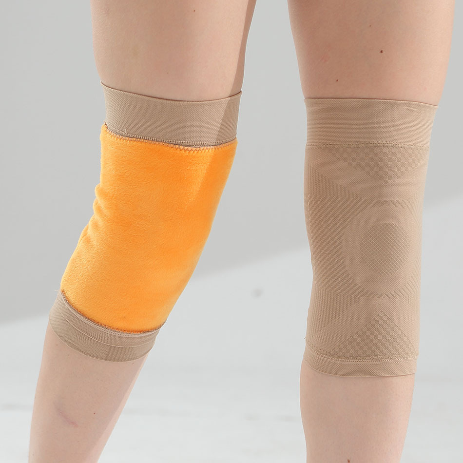 Spring And Plush Kneepad Exercise And Health Care Protective Equipment For The Elderly  Stockings Fluffy Knee Socks