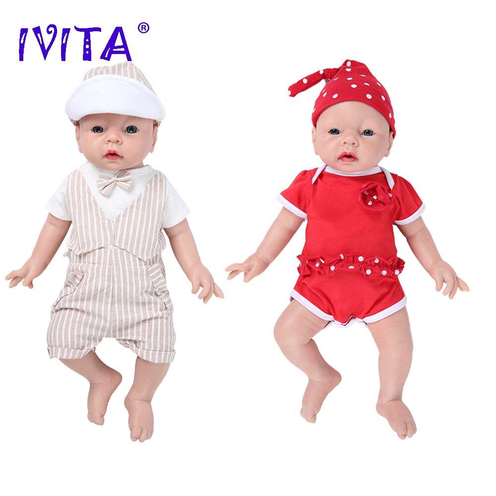 IVITA WG1506 51 см 3,2 кг силиконовая кукла для новорожденных, Реалистичная кукла для малышей, 3 цвета, выбор глаз, рождественские детские игрушки, подарок Куклы      АлиЭкспресс