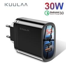 KUULAA Quick Charge 3.0 USB Charger 30W QC3.0 QC Fast Charging Multi Plug