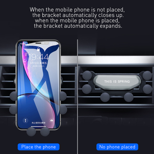 Universal Gravity Car phone Holder Car Air Vent Mount Phone Holder For iPhone 8 XS Max Samsung Xiaomi Mobile Phone Holder Stand 2