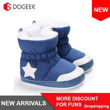 DOGEEK Winter Warm Newborn Baby shoes Girls Boys Infant Toddler Snow Boots Warm Anti-slip Soft Sole Shoes Anti-dirty 0-18M