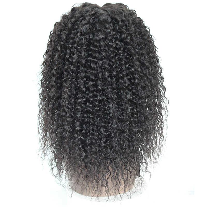 Perucas de cabelo ondulado frontal, cabelo sintético 30% humano encaracolado para mulheres negras cor natural peruca X-TRESS,