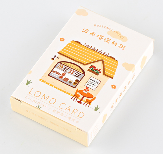 L57- Happy Street Paper Greeting Card Lomo Card(1pack=28pieces)