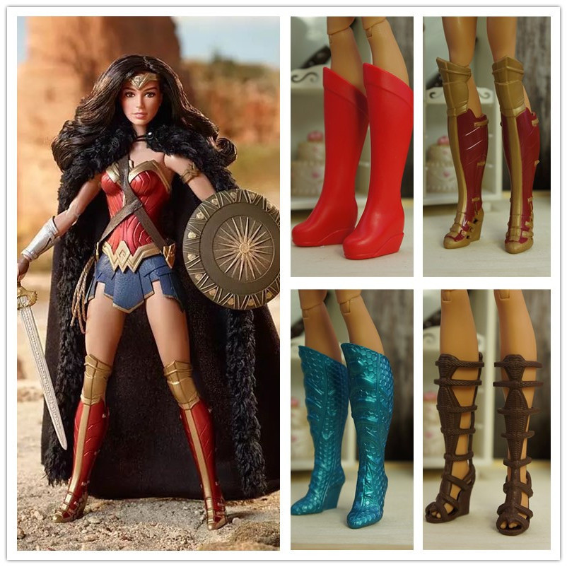 Original <font><b>Doll</b></font> Boots , Wonder women <font><b>doll</b></font> <font><b>shoes</b></font> , accessories for 30cm barbie FR <font><b>doll</b></font> , <font><b>1/6</b></font> <font><b>doll</b></font> <font><b>shoes</b></font> image