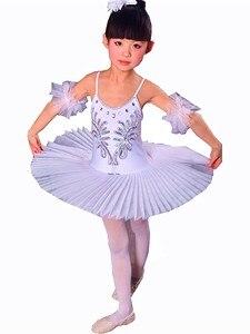 Image 5 - White Ballet Tutu Skirt Ballet Dress Childrens Swan Lake Costume Kids Belly Dance Costumes Stage Professional
