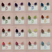 10pcs/lot water-drop shape ink pads for rubber stamps fast-drying inkt voor stempels DIY Scrapbooking Decor