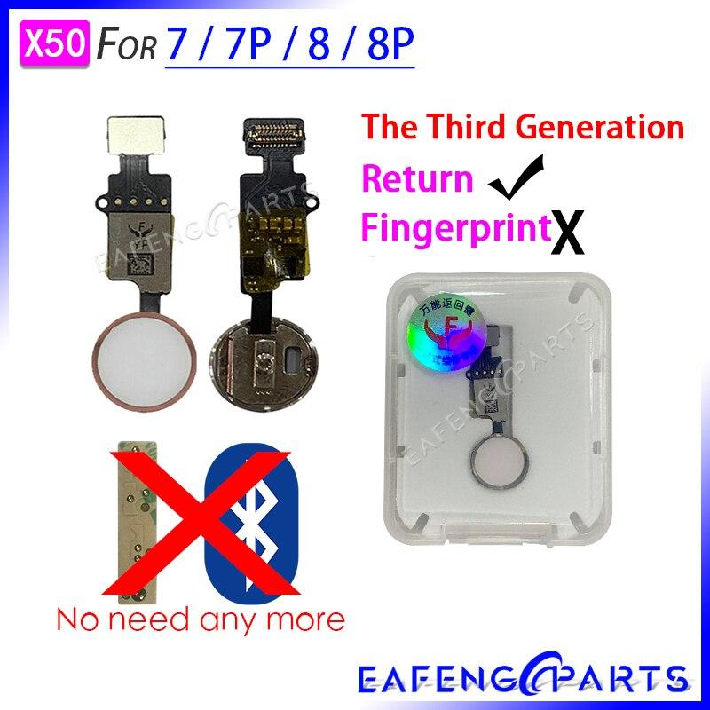 50 Pcs/lot 7 Plus Home Button Flex Cable For 8 Plus Home Button Flex Assembly With Retrun Function For 8