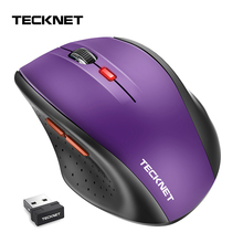 TeckNet classique souris sans fil 2.4GHz Portable optique USB Nano récepteur souris ordinateur PC 6 boutons 2400 DPI 5 niveaux de réglage
