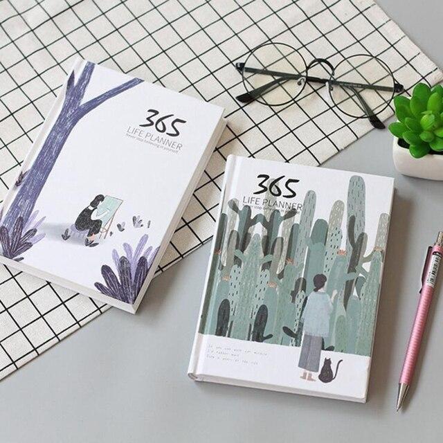 365 agenda anual agenda planejador colorido página interna ilustração diário plano bala diário diário registro vida papelaria presentes