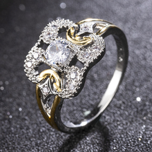 Rhinestone Ring Trendy Yellow Crystal Engagement Claws Design Hot Sale Rings For Women Ring Female Wedding Jewelry Accessories