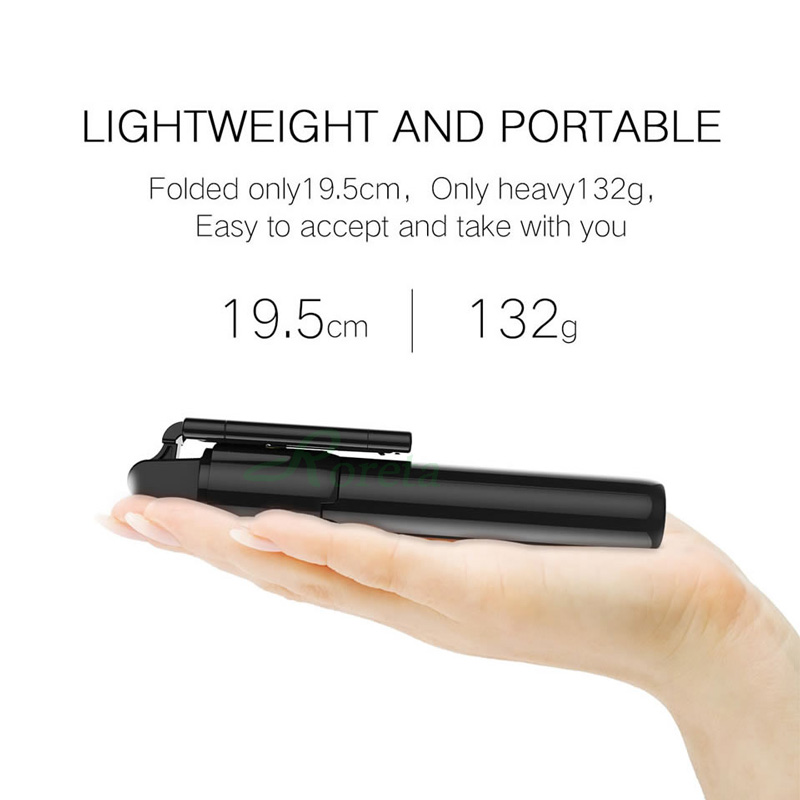 Roreta 2019 new 3 in 1 Wireless Bluetooth Selfie Stick Extendable Handheld monopod foldable mini tripod With Shutter remote