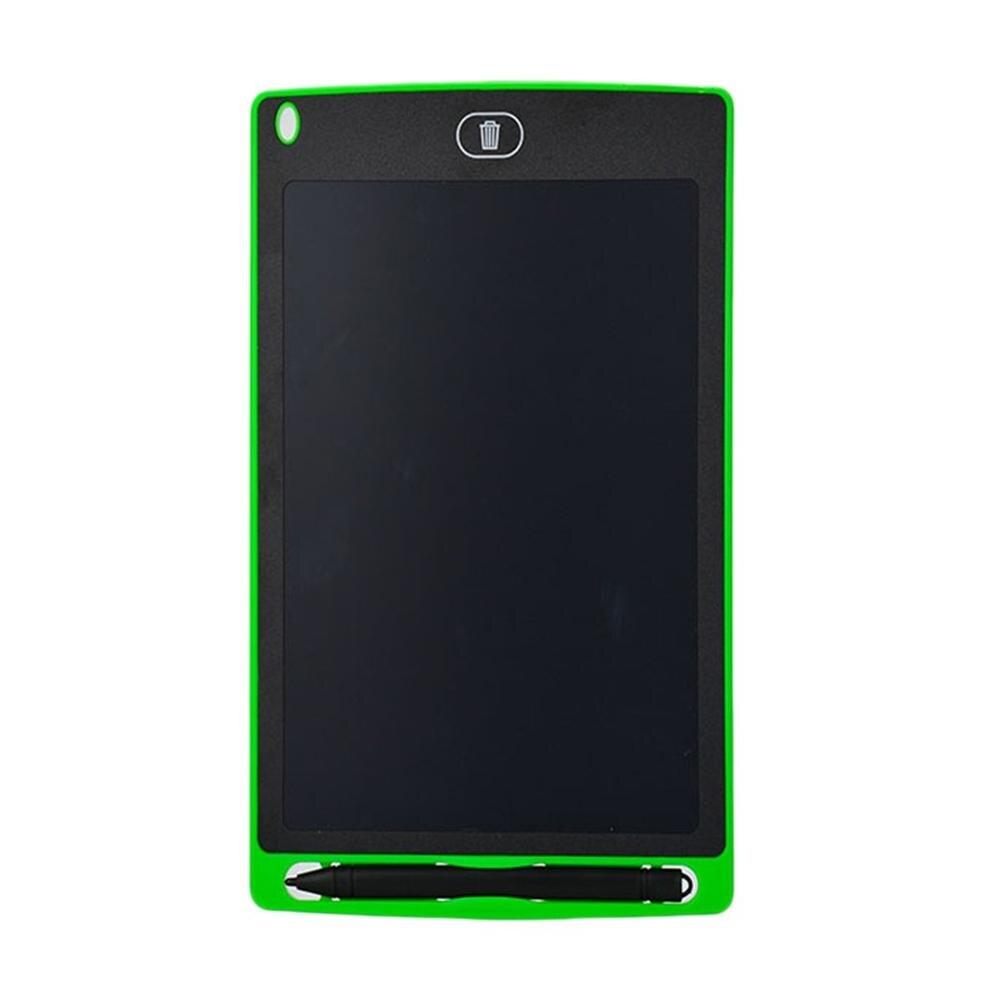 Планшет для рисования 8,5 дюймов блокнот цифровой lcd доска для рисования почерк доска объявлений для образования бизнеса - Цвет: Green