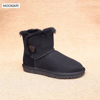 In 2019, Australia's highest quality men's snow boots, real sheepskin, natural wool, fashion buckled men's shoes, free delivery