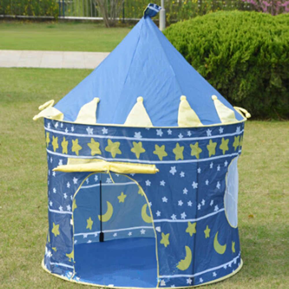 Lều Chơi Di Động Có Thể Gập Lại Tipi Hoàng Tử Gấp Lều Trẻ Em Bé Trai Cubby Nhà Chơi Trẻ Em Quà Tặng Đồ Chơi Ngoài Trời Lều Lâu Đài