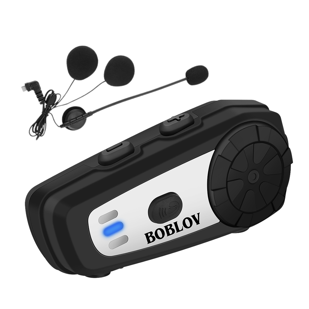 60m Bluetooth Intercom Motorcycle Helmet Headsets For 2Rider BT Wireless Walkie Talkie Moto Stereo Interphone MP3 FM Radio