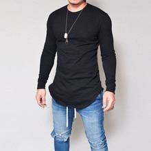 Сезон осень-зима; Новинка; футболка Для мужчин VUltra по низкой цене с длинный рукавом, мужской футболки для девочек Slim fit с круглым вырезом Однотонная одежда футболка Размеры S-3XL