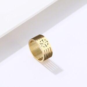 DOTIFI для женщин модные кольца счастливый клевер кольцо из нержавеющей стали мужское любовное Золотое серебряное кольцо ювелирные изделия ...