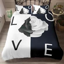 Rose Flower Linen Bedding Sets