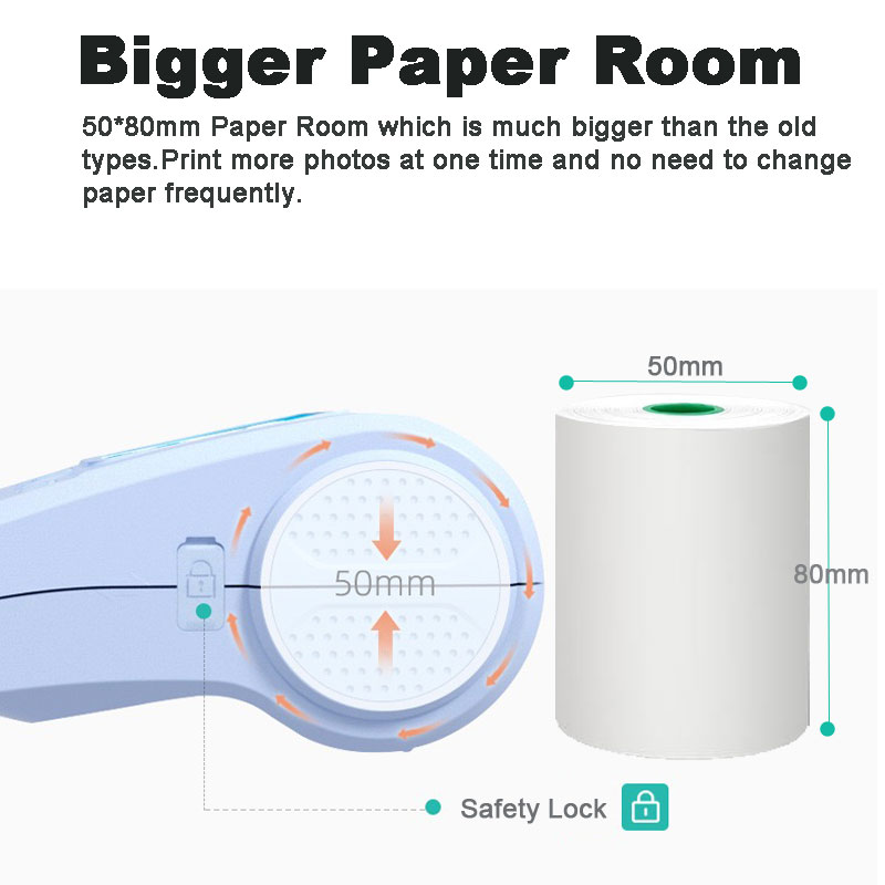 Peripage A3 MAX 57mm 80mm Tragbare Mini Tasche Foto Drucker Bluetooth Thermische Drucker Für Handy Computer Windows system