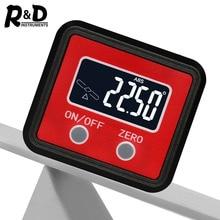 R & D Góc Protractor Đa Năng Vát 360 Độ Mini Điện Tử Kỹ Thuật Số Protractor Inclinometer Bút Thử Dụng Cụ Đo