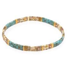 Go2boho 2021 vintage pulseira masculino miyuki tila contas pulseiras para mulheres amizade jóias presente frisado pulseras accesorios