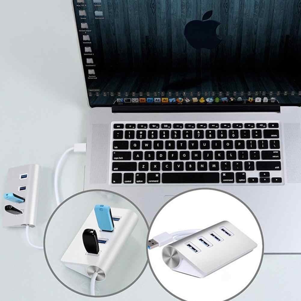 4 port USB 3.0 HUB Splitter adaptörü Mini taşınabilir çoklu port USB distribütörü konektörü için yüksek hızlı sabit disk dizüstü