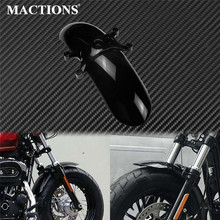 Motorcycle Gloss Black Front Fender Retro Mudguard Protector Cover ABS Plastic For Harley Sportster XL Forty Eight 48 2010-2015