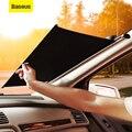 Baseus лобовое стекло автомобиля солнцезащитный козырек автоматическая выдвижная крышка автомобиля занавес переднее окно складной лобовое с...